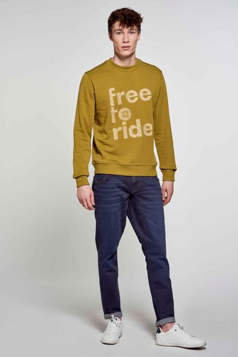 R.EV 1703 by Remco Evenepoel Sweaters met ronde hals groen REV211MT 005_GREEN MOSS img4