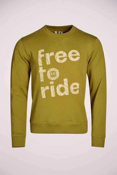 R.EV 1703 by Remco Evenepoel Sweaters met ronde hals groen REV211MT 005_GREEN MOSS img5