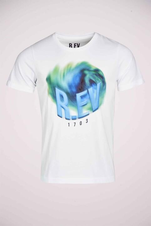 R.EV 1703 by Remco Evenepoel T-shirts (korte mouwen) wit REV211MT 006_WHITE img4