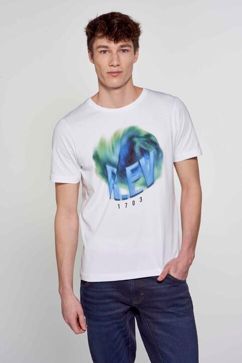 R.EV 1703 by Remco Evenepoel T-shirts (korte mouwen) wit REV211MT 006_WHITE img5