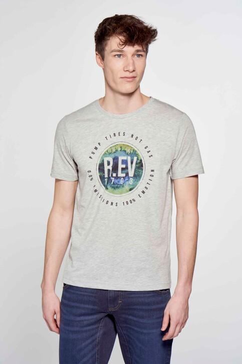 R.EV 1703 by Remco Evenepoel T-shirts (korte mouwen) grijs REV211MT 010_GREY MELEE img4