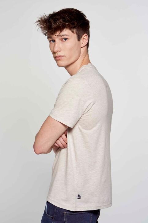 R.EV 1703 by Remco Evenepoel T-shirts (korte mouwen) wit REV211MT 014_WHITE PEPPER img3