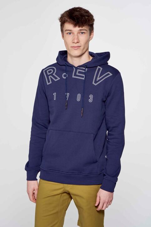R.EV 1703 by Remco Evenepoel Sweaters met kap blauw REV211MT 015_NAVY img4