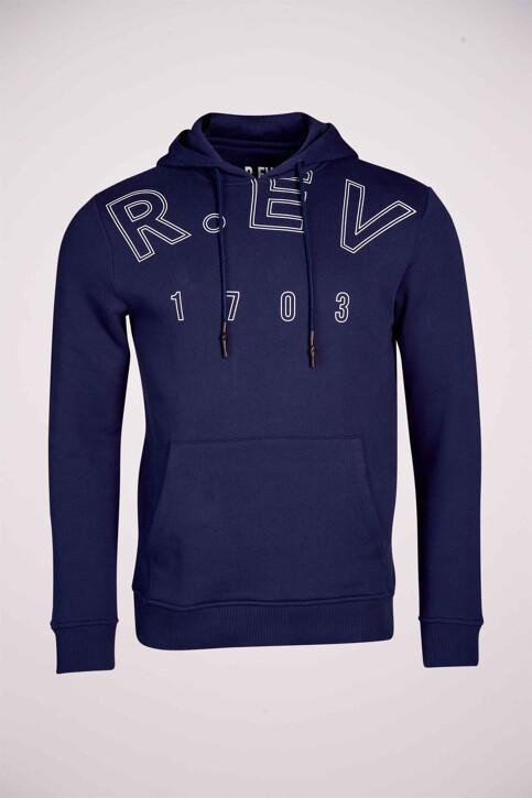 R.EV 1703 by Remco Evenepoel Sweaters met kap blauw REV211MT 015_NAVY img5