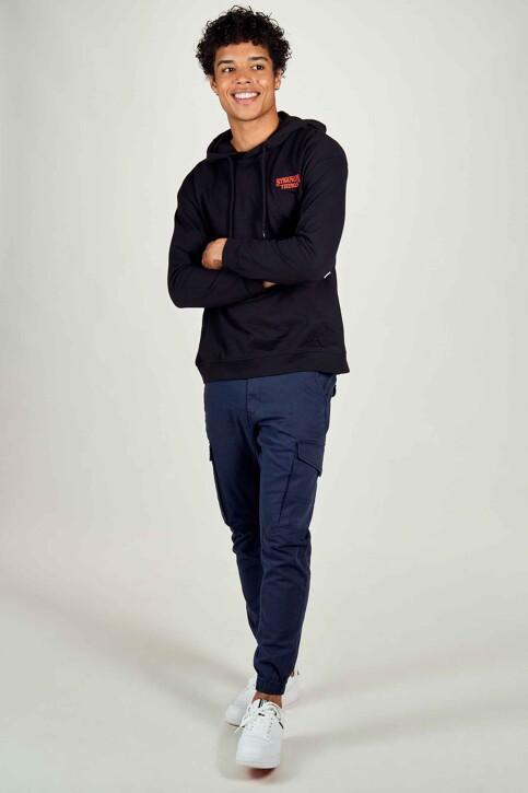 STRANGER THINGS Sweaters met kap zwart STT3025B_BLACK img2