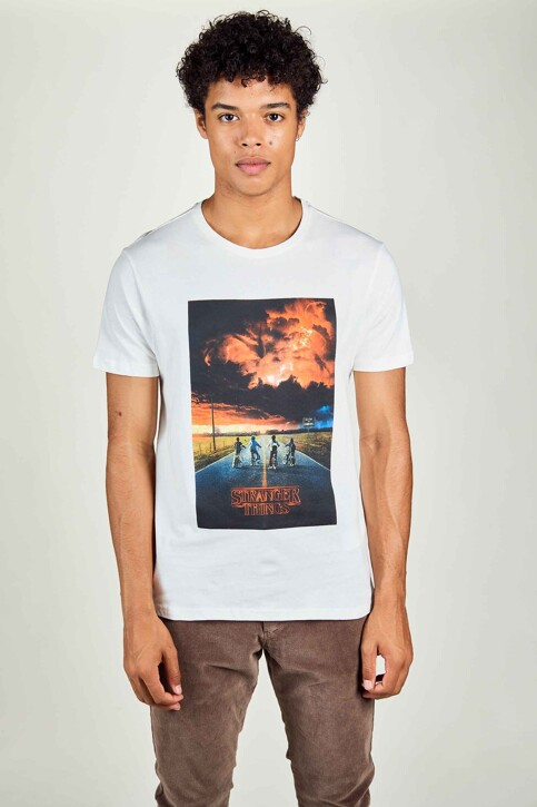 STRANGER THINGS T-shirts (manches courtes) blanc STT3043C_WHITE img1