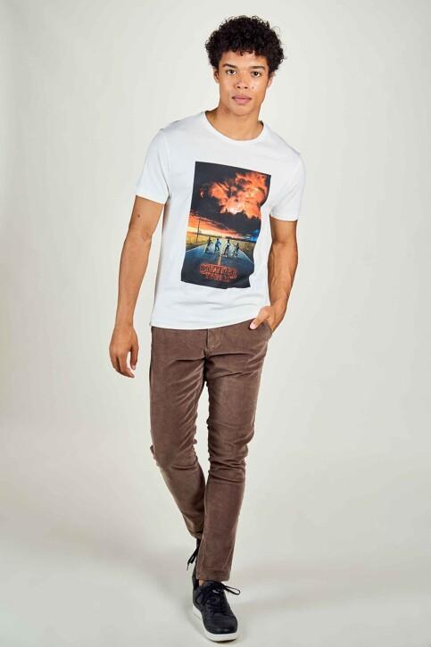 STRANGER THINGS T-shirts (manches courtes) blanc STT3043C_WHITE img2