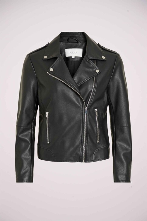 VILA® Vestes courtes noir VICARA FAUX LEATHER_BLACK img8