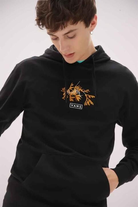 "VANS ""OFF THE WALL"" Sweaters met kap zwart VN0A54APBLK1_BLK1 BLACK img1"