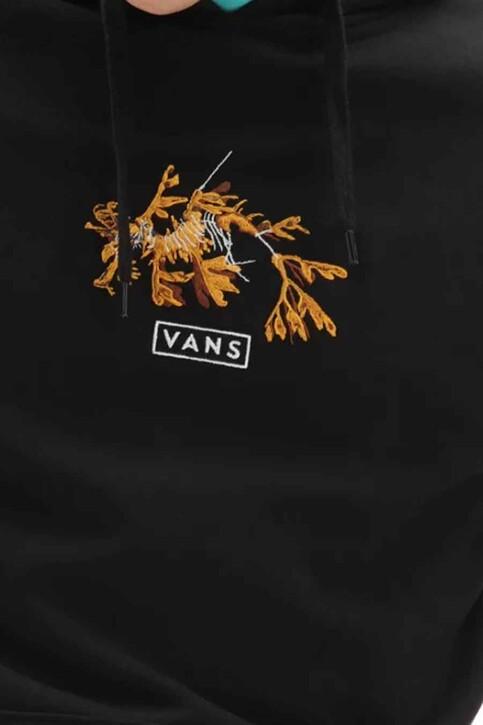 "VANS ""OFF THE WALL"" Sweaters met kap zwart VN0A54APBLK1_BLK1 BLACK img4"