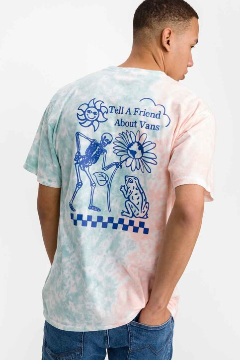 """VANS """"OFF THE WALL"""" T-shirts (korte mouwen) blauw VN0A5E7CZD71_ZD71 CORAL CAME img1"""
