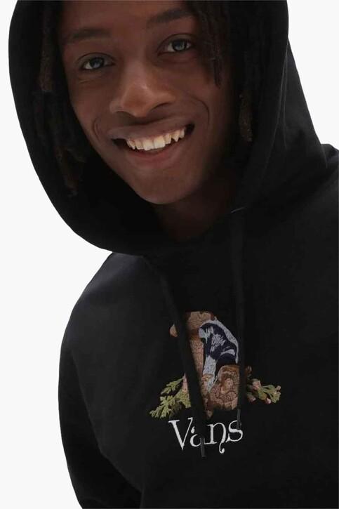 "VANS ""OFF THE WALL"" Sweaters met kap zwart VN0A5KEABLK1_BLK1 BLACK img3"