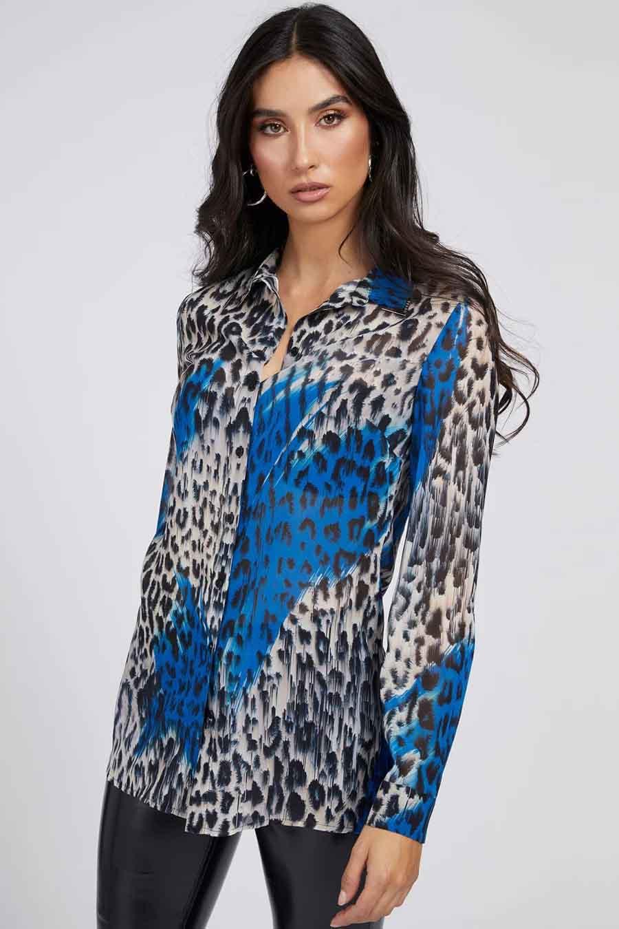 Guess® Blouse lange mouwen, Multicolor, Dames, Maat: L/M/S/XL/XS
