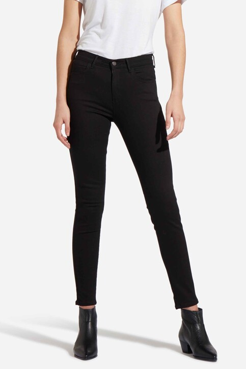 Wrangler® Jeans skinny zwart W27HLX023_RINSE img1