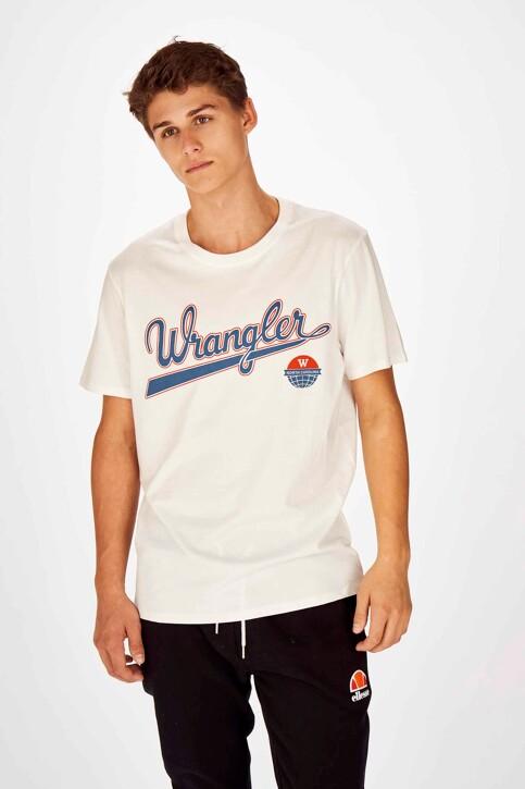 Wrangler® T-shirts (korte mouwen) wit W7C6FK737_OFF WHITE img1