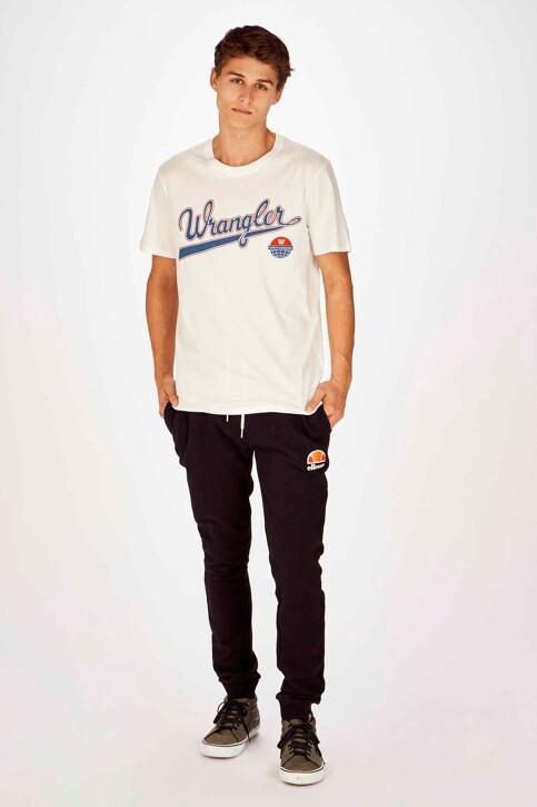 Wrangler® T-shirts (korte mouwen) wit W7C6FK737_OFF WHITE img2