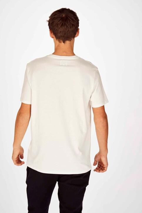 Wrangler® T-shirts (korte mouwen) wit W7C6FK737_OFF WHITE img3