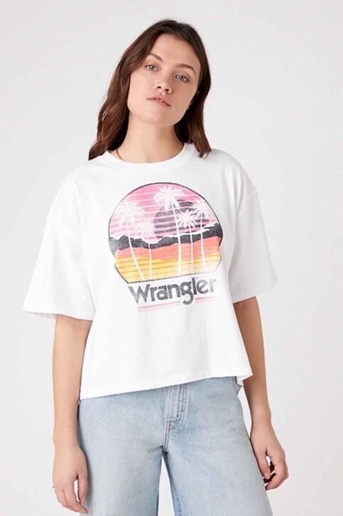 Wrangler® T-shirts (korte mouwen) wit W7S2GF989_WHITE img1
