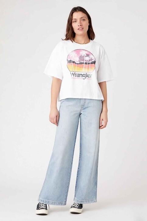 Wrangler® T-shirts (korte mouwen) wit W7S2GF989_WHITE img2
