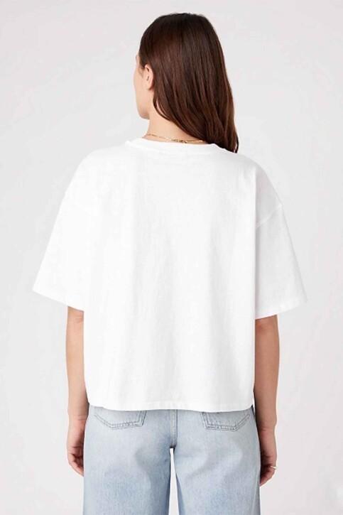 Wrangler® T-shirts (korte mouwen) wit W7S2GF989_WHITE img3