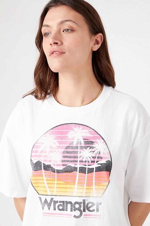 Wrangler® T-shirts (korte mouwen) wit W7S2GF989_WHITE img4